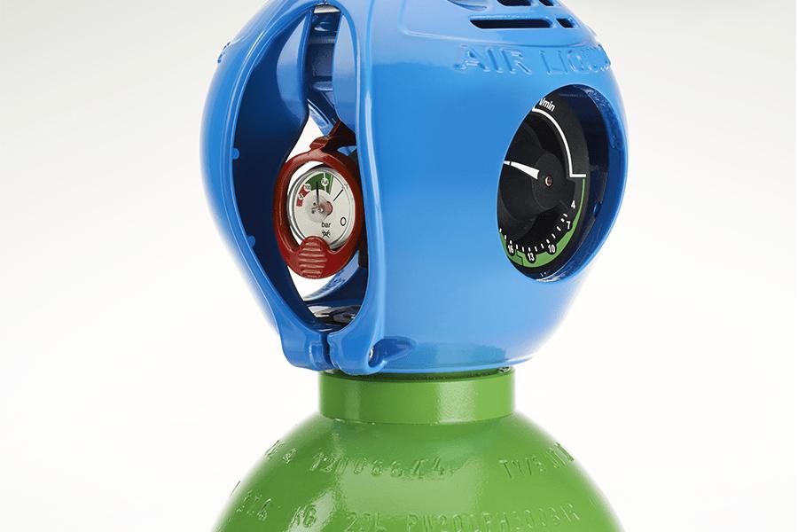 Botella para suministro de gas industrial